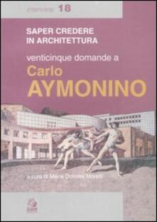 Promoartpalermo.it Venticinque domande a Carlo Aymonino Image