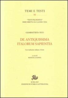 Mercatinidinataletorino.it De antiquissima italorum sapientia Image