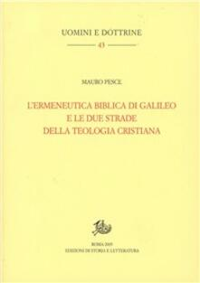 Amatigota.it L' ermeneutica biblica di Galileo e le due strade della teologia cristiana Image