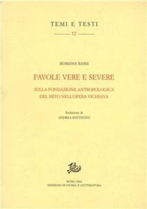 Favole vere e severe sulla fondazione antropologica del mito nell'opera vichiana