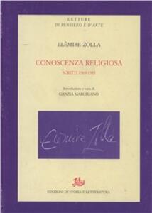 Conoscenza religiosa. Scritti 1969-1983