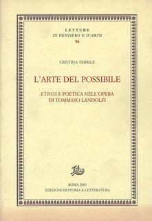 Voluntariadobaleares2014.es L' arte del possibile. Ethos e poetica nell'opera di Tommaso Landolfi Image