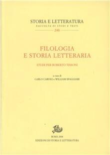 Antondemarirreguera.es Filologia e storia letteraria. Studi per Roberto Tissoni Image