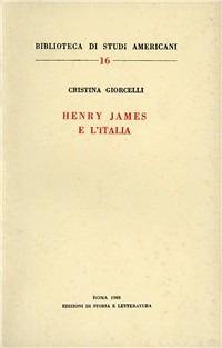 Henry James e l'Italia