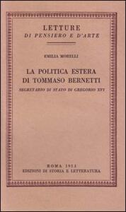 La politica estera di Tommaso Bernetti, Segretario di Stato di Gregorio XVI