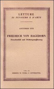 Friedrich von Hagedorn. Menschenbild und Dichtungsauffassung