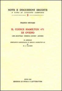 Il codice Hamilton 471 di Ovidio (Ars amatoria-Remedia amoris-Amores)-Pontano's marginalia in Berlin, Hamilton 471