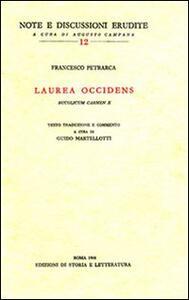 Laurea occidens (Bucolicum carmen X). Testo latino a fronte