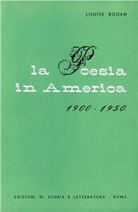 La poesia in America (1900-1950)