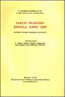 Sancti Francisci regula anni 1223, fontibus locique parallelis illustrata - Livario Oliger - copertina