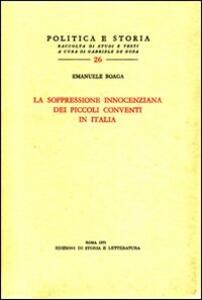 La soppressione innocenziana dei piccoli conventi in Italia