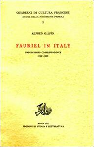 Fauriel in Italy. Unpublished correspondence (1822-1825)