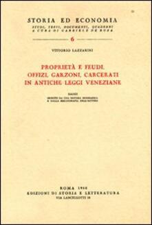Winniearcher.com Proprietà e feudi, offizi, garzoni, carcerati in antiche leggi veneziane Image