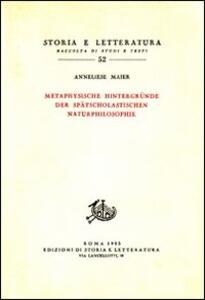 Studien zur Naturphilosophie der Spätscholastik. Vol. 4: Metaphysische Hintergründe der Spätscolastischen Naturphilosphie.
