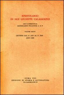Epistolario. Vol. 6: Lettere dal n. 2351 al n. 3000 (1635-1638). - Giuseppe Calasanzio (san) - copertina