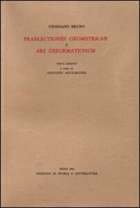 «Praelectiones geometricae»-«Ars deformationum»