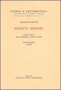 Scritti minori. Vol. 2: 1892-1905.