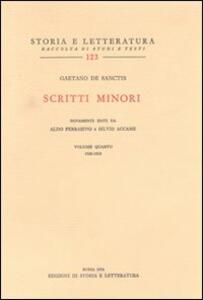 Scritti minori. Vol. 4: 1920-1930.