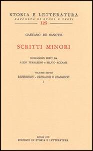 Scritti minori. Vol. 6: Recensioni-Cronache e commenti.