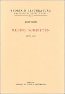 Kleine Schriften - Joseph Koch - copertina