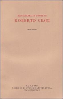 Miscellanea in onore di Roberto Cessi - copertina
