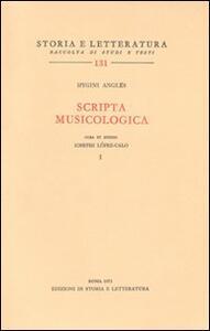 Scripta musicologica