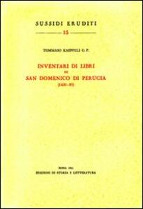 Inventari di libri di San Domenico di Perugia (1430-80)