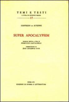 Super Apocalypsim - Goffredo di Auxerre - copertina