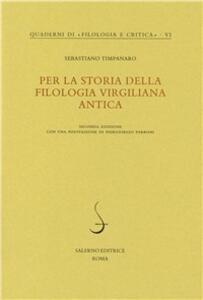 Per la storia della filologia virgiliana antica