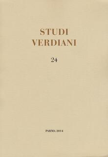 Studi verdiani. Ediz. italiana e inglese. Vol. 24 - Emilio Sala - copertina