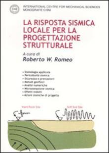 La risposta sismica locale per la progettazione strutturale - copertina