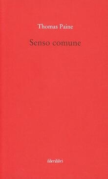 Senso comune - Thomas Paine - copertina