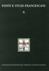 Incipitario dei manoscritti della Biblioteca Antoniana di Padova