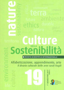 Nicocaradonna.it Culture della sostenibilità (2017). Vol. 19: Alfabetizzaizone, apprendimento, arte. Il divario culturale delle aree rurali fragili. Image