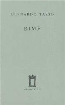Le rime - Bernardo Tasso - copertina