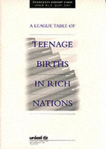 League table of teenage births in rich nations