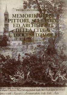 Memorie delli pittori, scultori, ed architetti della città, e diocesi d'Imola (manoscritto del 1834) - Pietro Antonio Meloni - copertina
