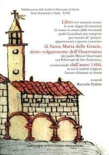Cronache del convento di Santa Maria delle Grazie (Osservanza) - copertina