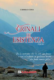 Crinali di esistenza - Carmelo Cossa - copertina