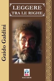 Leggere tra le righe - Guido Galdini - copertina