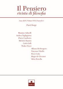 Lpgcsostenible.es Il pensiero. Rivista di filosofia (2018). Vol. 57\1: Fuori luogo. Image