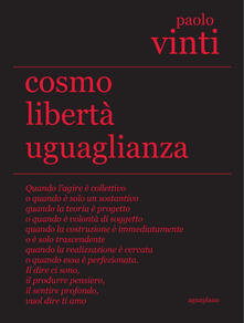 Cosmo libertà uguaglianza - Paolo Vinti - copertina