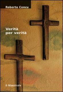 Verità per verità - Roberto Concu - copertina