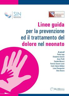 Linee guida per la prevenzione ed il trattamento del dolore nel neonato - copertina