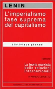 L' imperialismo fase suprema del capitalismo - Lenin - copertina