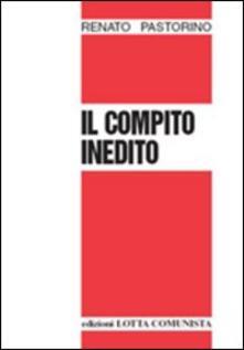 Il compito inedito - Renato Pastorino - copertina