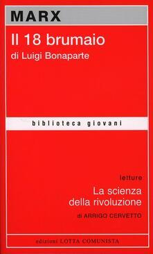 Il diciotto brumaio di Luigi Bonaparte - Karl Marx - copertina