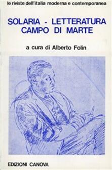 Solaria «Letteratura» «Campo di Marte» - copertina