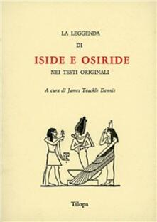 La leggenda di Iside e Osiride - copertina