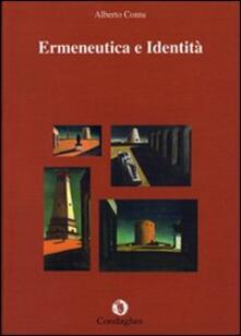 Ermeneutica e identità - Alberto Contu - copertina